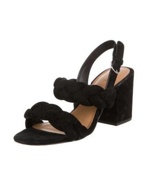 8c4bc2e05998 ... Rebecca Minkoff - Black Suede Slingback Sandals - Lyst ...