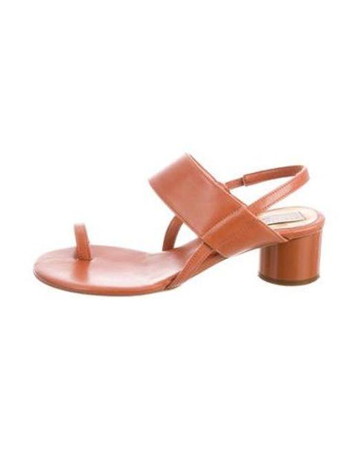 b1da2f2b6ce4 Lyst - Stella Mccartney Vegan Leather Open-toe Sandals Orange in Orange