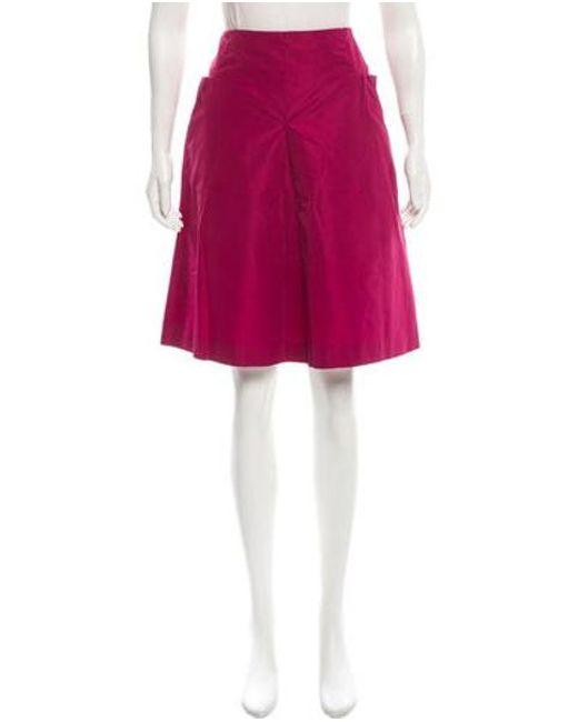 Miu Miu - Red Miu A-line Knee-length Skirt Burgundy - Lyst
