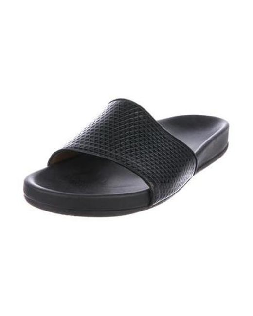 a84011bc03cfe0 ... Marc Jacobs - Black Leather Slide Sandals for Men - Lyst ...