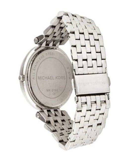1eb81c7850b5 ... Michael Kors - Metallic Darci Watch - Lyst ...