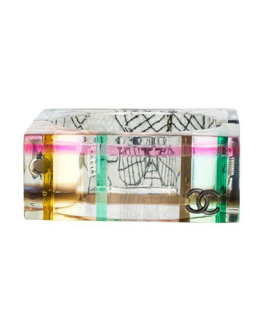 Chanel | Multicolor Square Resin Bangle | Lyst
