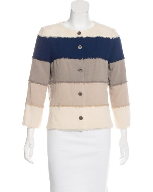 Chanel | Metallic Colorblock Bouclé Jacket Multicolor | Lyst