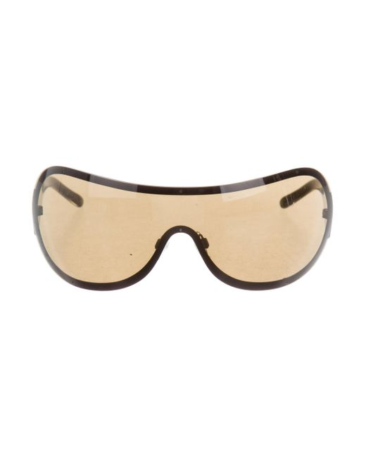 Chanel   Brown Strass Cc Sunglasses   Lyst