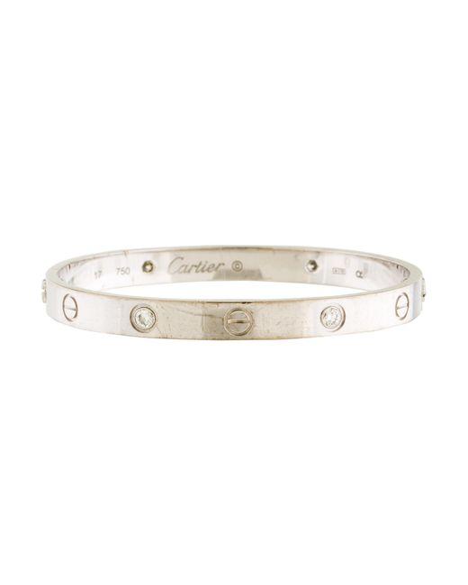 Cartier | Metallic Diamond Love Bracelet White | Lyst