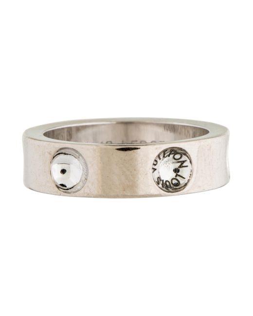Louis Vuitton | Metallic Empreinte Ring White | Lyst