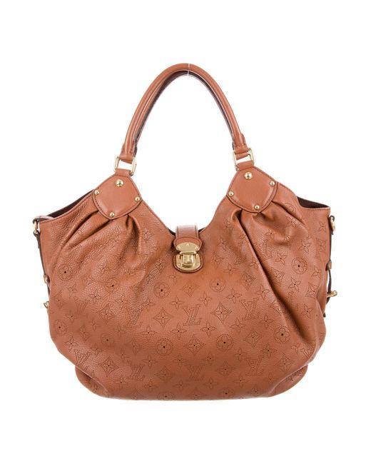 Louis Vuitton   Brown Mahina L Hobo Cognac   Lyst