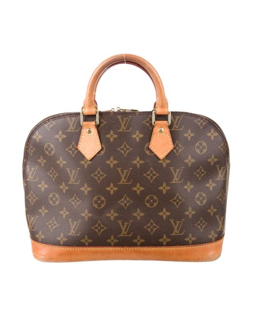Louis Vuitton | Natural Monogram Alma Pm Brown | Lyst