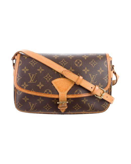 Louis Vuitton | Natural Monogram Sologne Bag Brown | Lyst