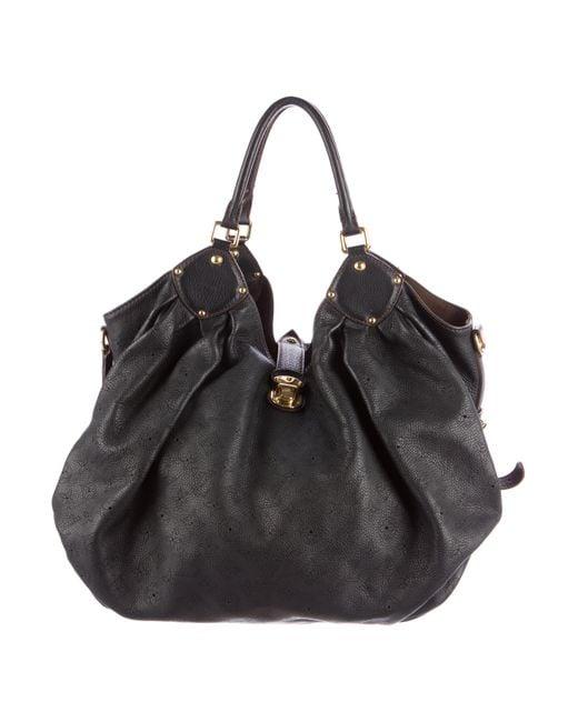Louis Vuitton   Black Mahina Xxl Bag   Lyst