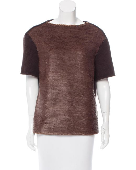 Marc Jacobs | Sequin Embellished Wool Sweater Brown | Lyst