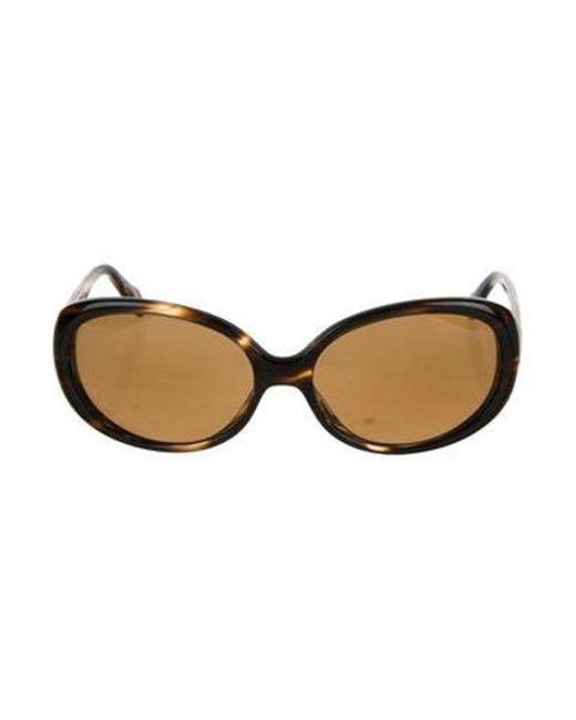 Oliver Peoples - Metallic Alyssia Tinted Sunglasses Black - Lyst