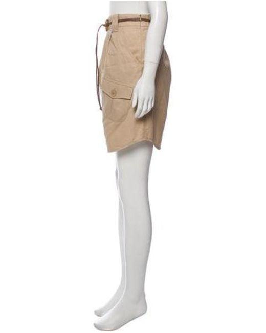 78031045e ... Brunello Cucinelli - Natural Woven Knee-length Skirt Tan - Lyst ...