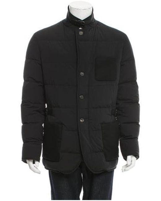 32ce304e5 Men's Black Quilted Wool-paneled Jacket W/ Tags
