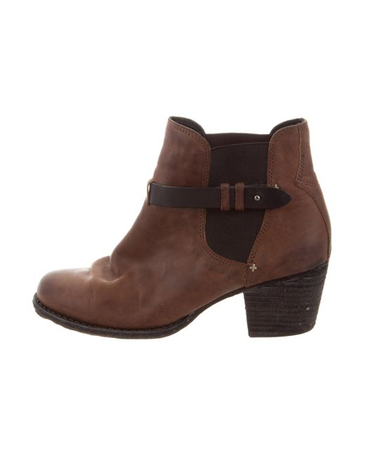 cheap sale professional Rag & Bone Leather Rounded-Toe Booties in China clearance from china 1gLoO9jrLL