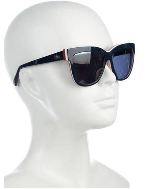 4e2d02af218c ... Dior - Metallic Graphic Tinted Sunglasses Gold - Lyst