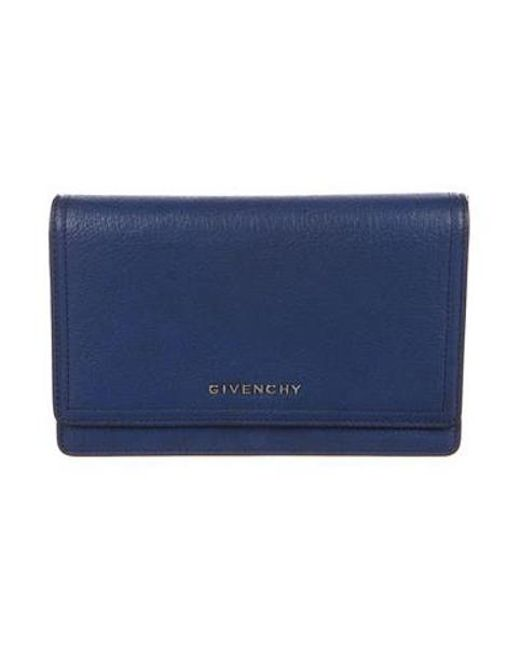 472a7e0e61 Givenchy - Metallic Pandora Wallet On Chain W/ Tags Blue - Lyst ...