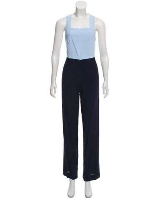 1a6e3ec6c17 Staud - Blue Sleeveless Colorblock Jumpsuit W  Tags - Lyst ...