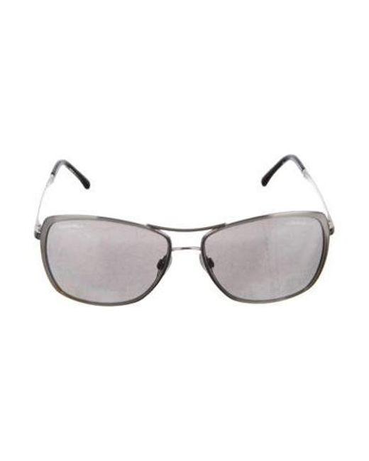 9c06816775fa Chanel - Metallic 2017 Summer Pilot Sunglasses Silver - Lyst ...