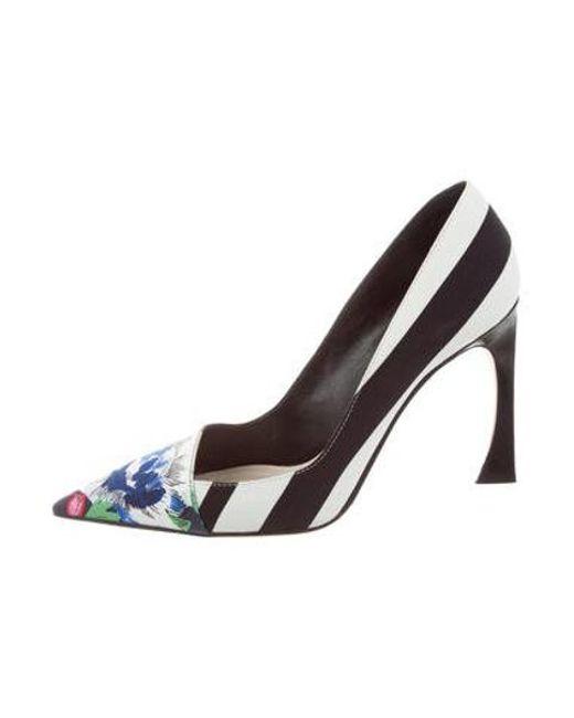 ee818d7f336 Dior - Black Songe Floral Print Pointed-toe Pumps - Lyst ...
