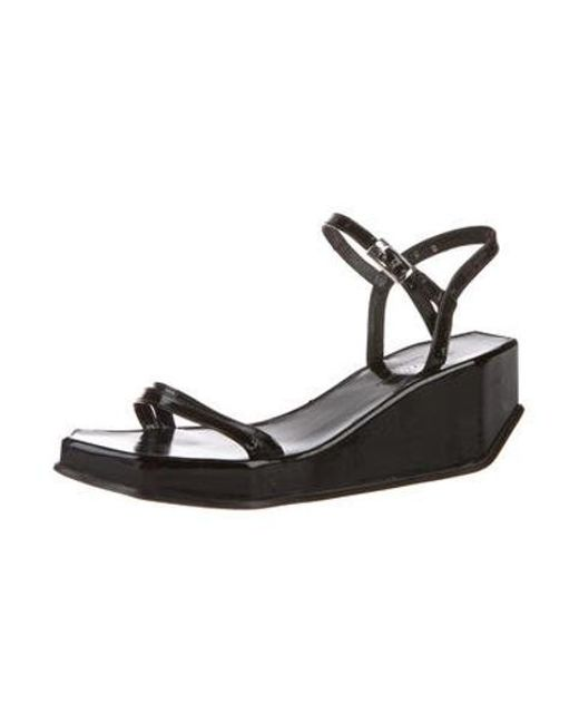 8f60e0f81835 ... Robert Clergerie - Black Patent Leather Platform Wedges - Lyst ...
