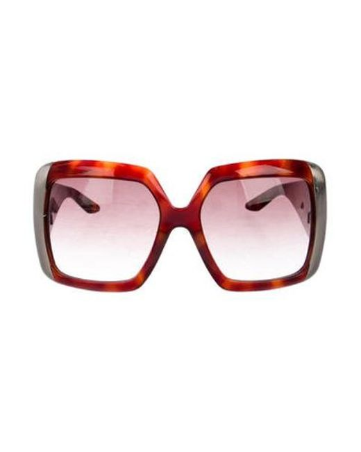 ccdd6dc526fd8 Dior - Metallic Gradient Oversize Sunglasses Brown - Lyst ...
