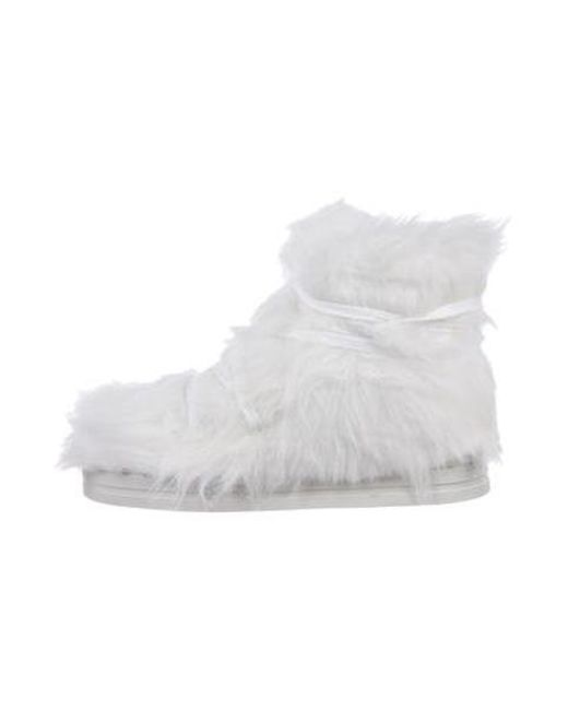 Opening Ceremony - White X Terence Koh Furry Sneakers W/ Tags - Lyst