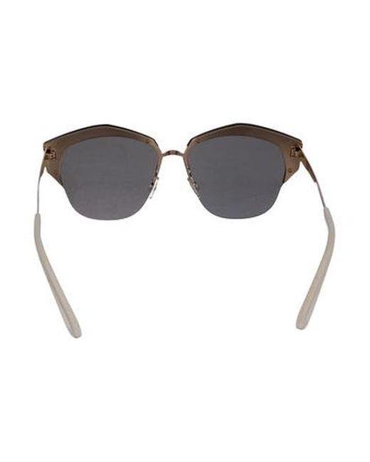 468b699b64ce4 ... Dior - Metallic Mirrored Reflective Sunglasses Silver - Lyst