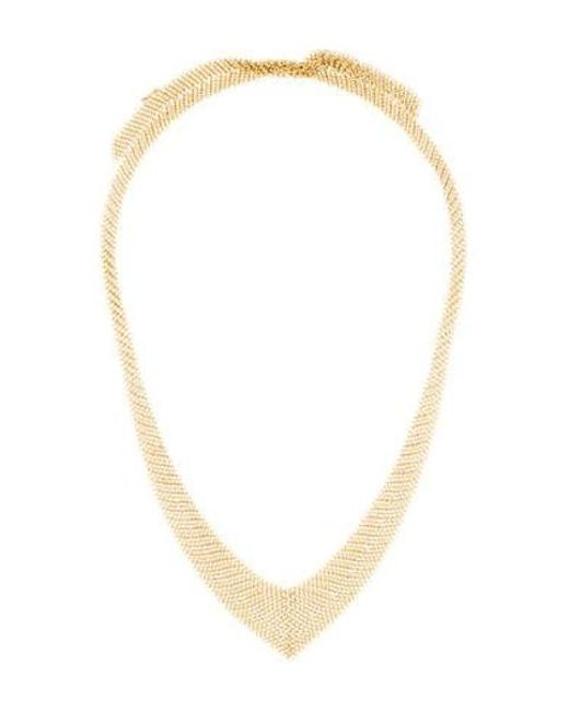 36d412ad965f Tiffany   Co - Metallic 18k Mesh Necklace Yellow - Lyst ...