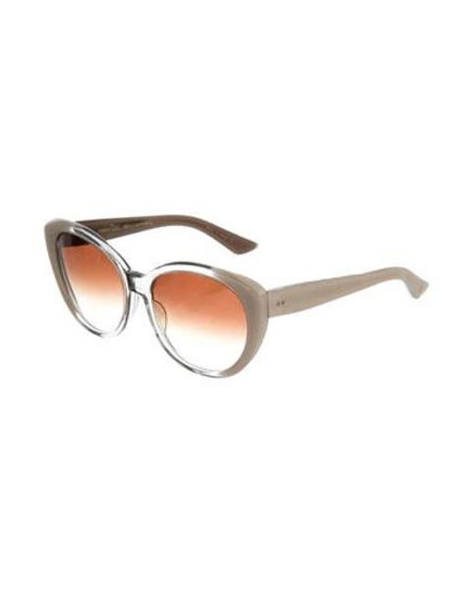 d27b9cb4ceb3 ... Dita - White Amant Round Sunglasses Clear - Lyst ...