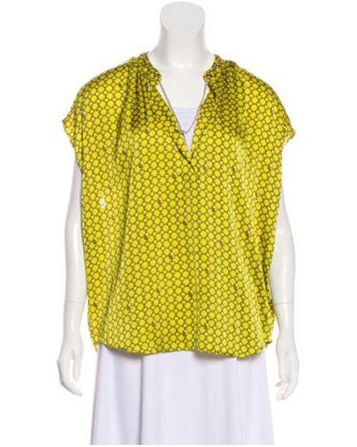 72cfd660fe85d MICHAEL Michael Kors - Metallic Michael Kors Sleeveless Embellished Top  Yellow - Lyst ...