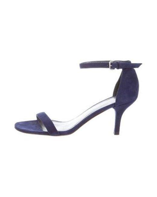 2689da0474c76a Stuart Weitzman - Blue Suede Ankle Strap Sandals - Lyst ...
