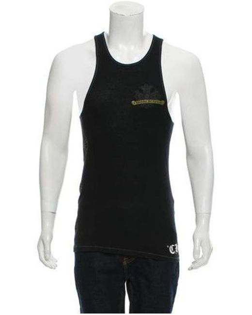 9feac5880f7746 Chrome Hearts - Natural Logo Printed Tank-top Black for Men - Lyst ...