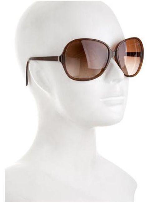 e1e47536f7e6 ... Oliver Peoples - Metallic Isobel Gradient Sunglasses Brown - Lyst