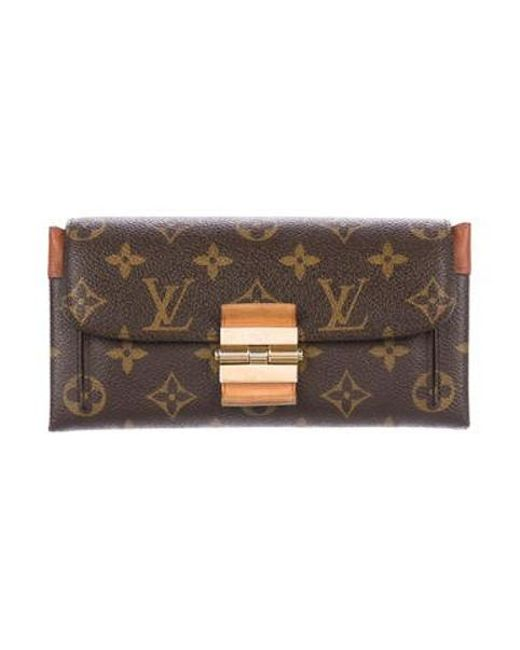 5919818167c3 Louis Vuitton - Natural Monogram Elysée Wallet Brown - Lyst ...