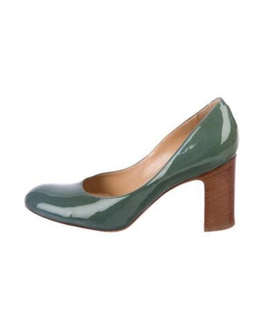 2a9119aea7 Dries Van Noten - Green Patent Leather Round-toe Pumps - Lyst ...