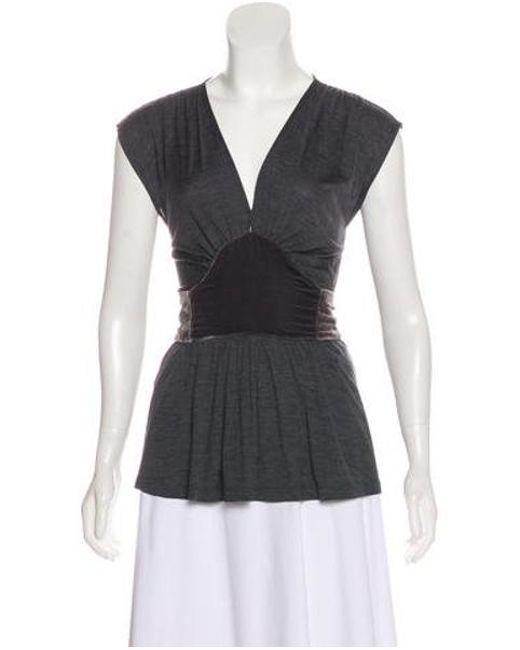 3857604ab1054 Diane von Furstenberg - Gray Silk Sleeveless Top Grey - Lyst ...