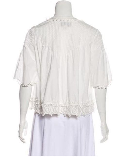 756ce96cc6622 ... 10 Crosby Derek Lam - White Embroidered Long Sleeve Top - Lyst ...