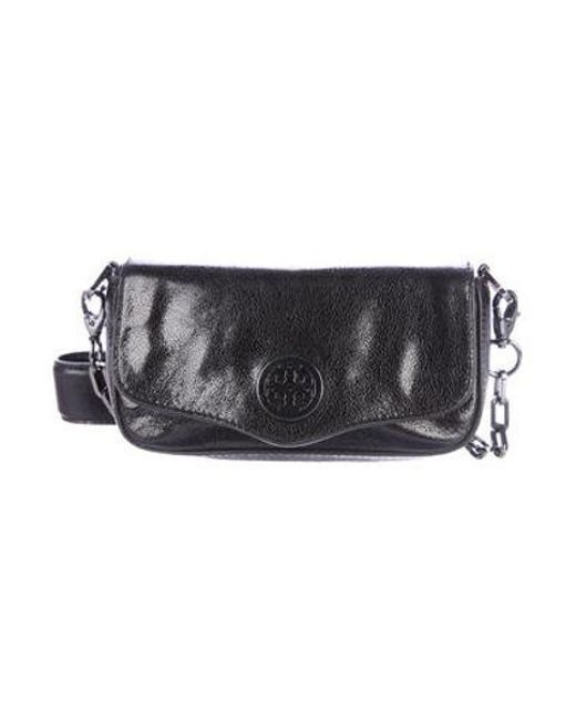 7937c5ac5a7 Tory Burch - Metallic Mini Robinson Crossbody Bag Black - Lyst ...