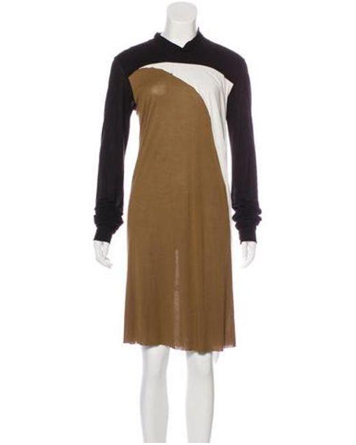 c359026e60efc Rick Owens - Brown Colorblock Jersey Dress - Lyst ...