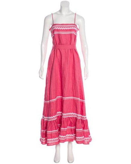 0121ee11edc Lisa Marie Fernandez - Pink Linen Maxi Dress - Lyst ...