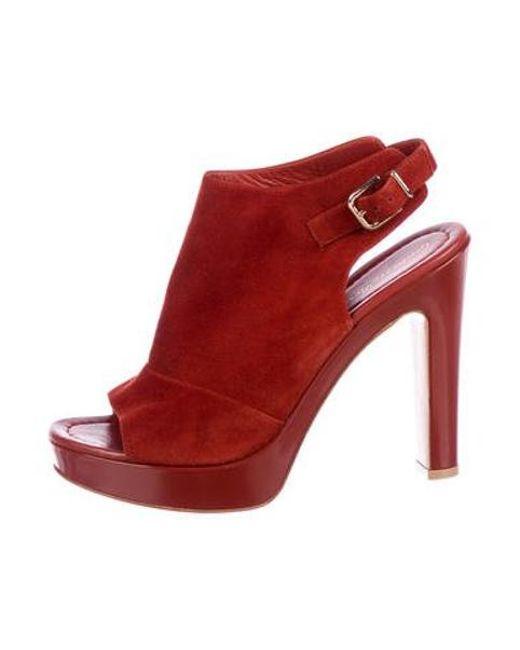 064dbf0c50c Gianvito Rossi - Brown Suede Platform Sandals Terracotta - Lyst ...