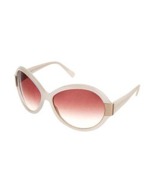 5b0294b0d32a6 ... Oliver Peoples - Metallic Harlot Oversize Sunglasses Gold - Lyst ...