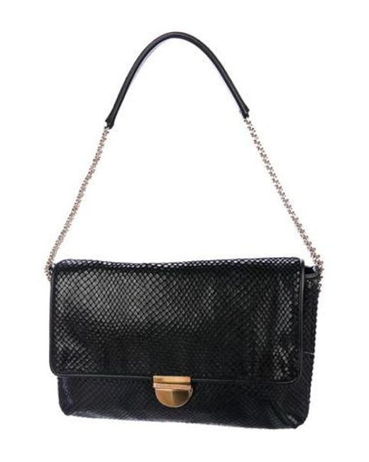 a8ea02c59e Stella McCartney - Metallic Alter Snake Shoulder Bag Black - Lyst ...