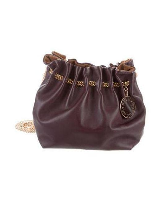 Stella McCartney - Metallic Grain Leather Crossbody Bag Gold - Lyst ... 2374324d4086e