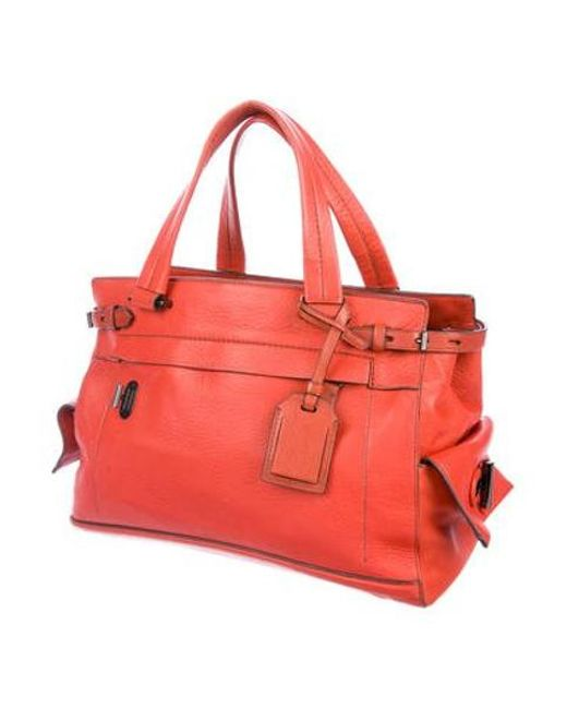 2d40a1775c2a ... Reed Krakoff - Gray Leather Boxer Bag Orange - Lyst ...