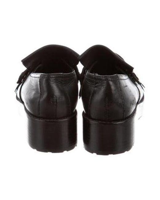 b38081df741 ... Tibi - Black Esmae Kiltie Loafers - Lyst