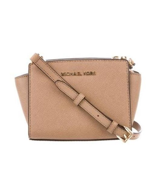 af63a761bcfb Michael Kors - Metallic Textured Leather Mini Bag Gold - Lyst ...