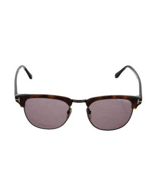 a3a5280ad1 Tom Ford - Metallic Henry Tortoiseshell Sunglasses Brown - Lyst ...