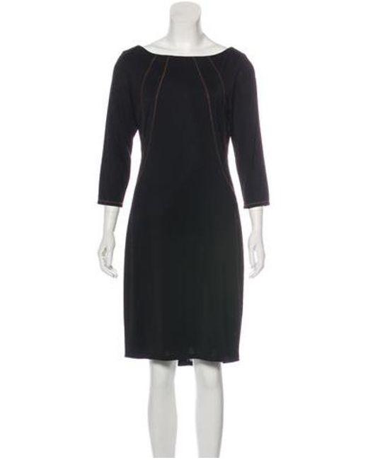 c71c7d86250 David Meister - Black Paneled Knee-length Dress - Lyst ...
